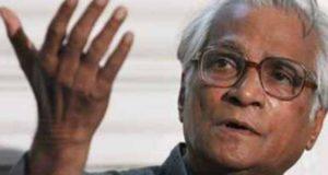 पूर्व रक्षामंत्री जॉर्ज फर्नांडिस को श्रद्धांजलि देते वक्त रो पड़े बिहार के सीएम नीतीश कुमार