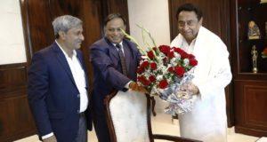 एनसीएल सीएमडी ने MP के CM कमलनाथ से शिष्टाचार भेंट कर एनसीएल के योगदान से  अवगत कराया