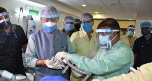 उत्तराखंड के मुख्यमंत्री रावत ने ऋषिकेश में निर्माणाधीन 500 बेड के कोविड अस्पताल का निरीक्षण किया