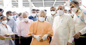 मुख्यमंत्री ने कैंसर संस्थान में स्थापित 100 बेड के डेडिकेटेड कोविड हाॅस्पिटल का लोकार्पण किया