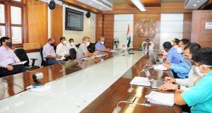 मुख्य सचिव की अध्यक्षता में प्रोजेक्ट माॅनिटरिंग ग्रुप की बैठक:  पर्यटन विकास की परियोजनाओं को निर्धारित समय सारणी के अनुसार पूरा किया जाये