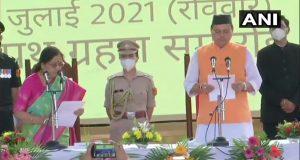 पुष्कर सिंह धामी ने उत्तराखंड के 11वें मुख्यमंत्री के रूप में  ली शपथ,  11 नेताओं को बनाया मंत्री